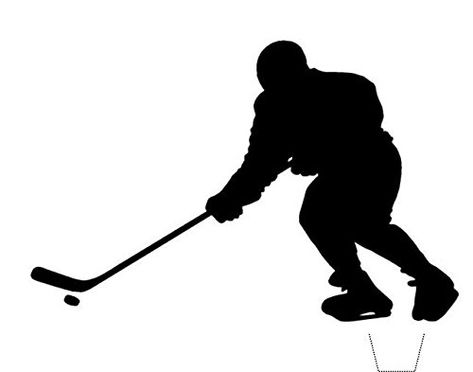 Novelty Ice Hockey Player Silhouette 12 Edible Stand Up Wafer Paper Cake Toppers 5 10 Business Days Delivery From Uk Eishockey Hockey Bilder