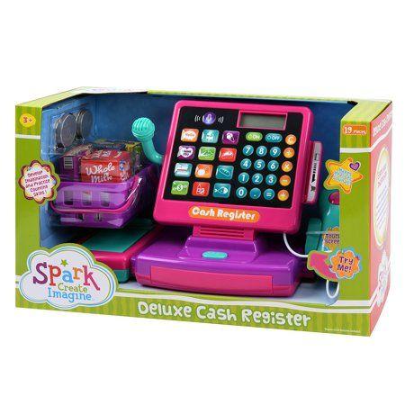 Spark Create Imagine Deluxe Cash Register Play Set 19 Pieces Walmart Com Cash Register Playset Kids