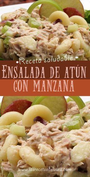 Ensalada De Atún Con Pasta Receta Recetas Saludables Comida Ensalada Pasta Atun