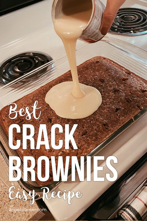 Best Crack Brownies - Easy Recipe for Fall. Angela Lanter desserts cupcakes Best Crack Brownies - Easy Recipe for Fall Dessert Simple, Best Easy Dessert Recipes, Easy Recipes, Pineapple Dessert Recipes, Easy Desert Recipes, Oven Recipes, Crack Brownies, Boxed Brownies, Easy Brownies