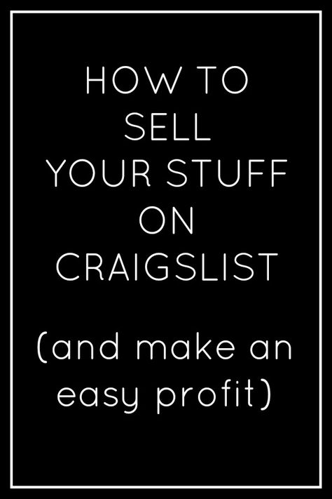 How To Sell Your Stuff
