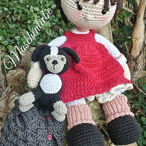 Crochet Pattern For Doll Mia Deer Layla Deutsch English