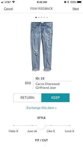 a1a78842f1e ID: 23 Carrie Distressed Girlfriend Jean | Stitch Fix - so many pins ...
