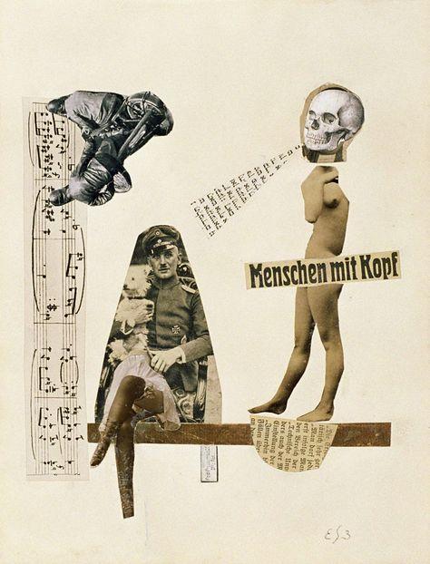 Erwin Blumenfeld, Men with Head, c. 1920-24