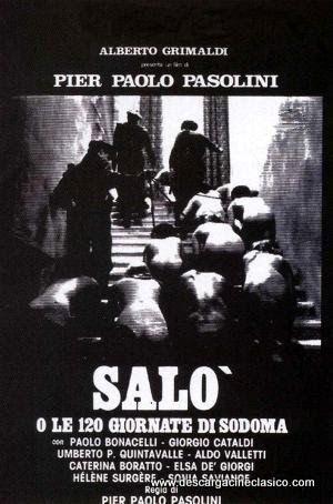 Salo O Los 120 Dias De Sodoma 1975 Espanol Peliculas Italianas Peliculas Completas Peliculas De Culto