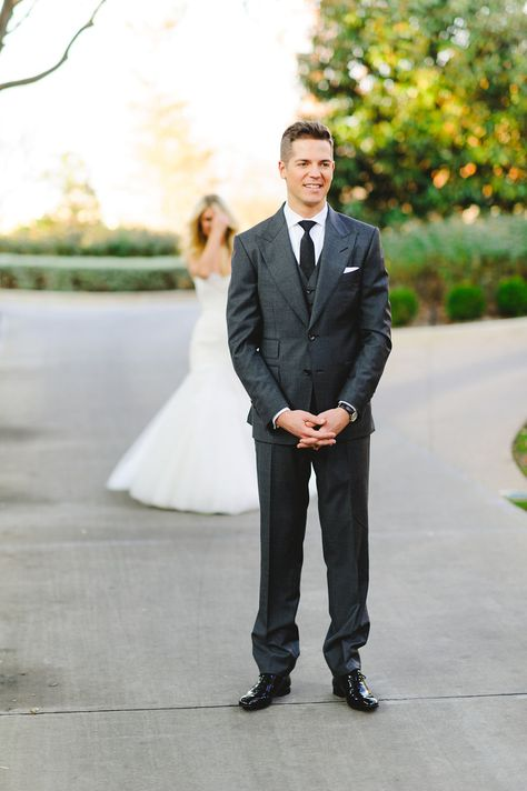 @laurenscruggs + Jason Kennedy Winter Wedding First Look | @toddevents | Photography: @thekatharris @lindseyshea #TheKennedyWedding