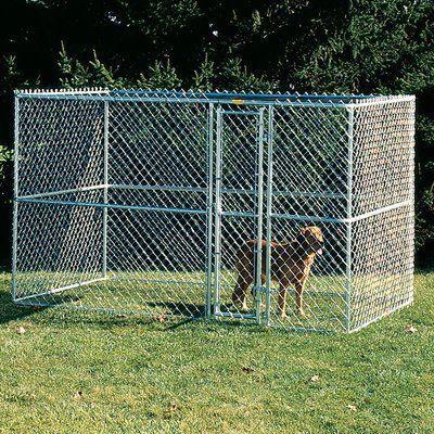 Archie Oscar Derek Steel Chain Link Portable Yard Kennel Size 72 H X 72 W X 120 L Dog Kennel Portable Dog Kennels Dog Houses