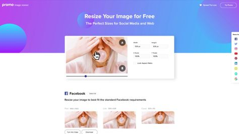 In One Click, 'Image Resizer' Converts Pics To Over 50 Social Media Post Sizes - DesignTAXI.com