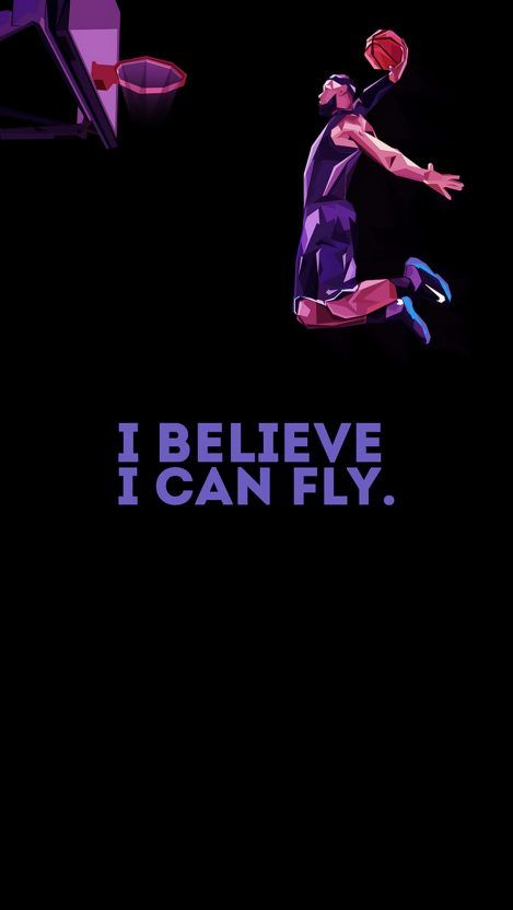 From This Webpage You Can Easily Download I Believe I Can Fly Iphone Wallpaper Fr In 2020 Basketball Iphone Wallpaper Cool Basketball Wallpapers Basketball Wallpaper