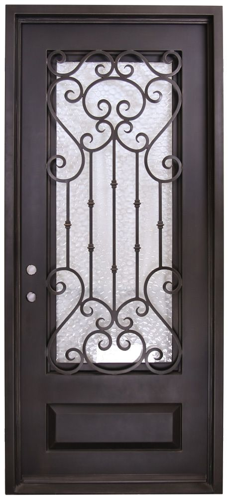 42 In X 96 In Dallas Exterior Wrought Iron Door Wrought Iron Doors Iron Doors Wrought Iron