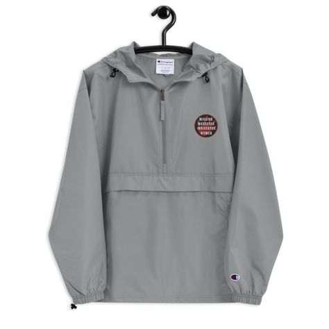 MMIW - Embroidered Champion Packable Jacket - Graphite / XL