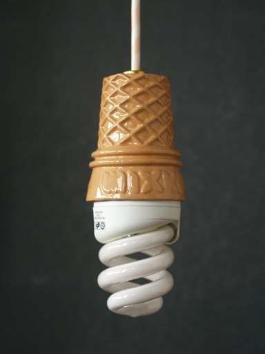 ice cream cone lamp.