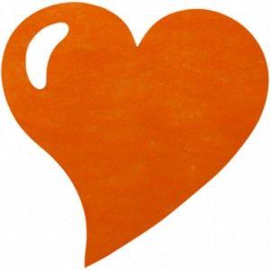 Set De Table Coeur Orange Intisse Les 50 Set De Table Orange
