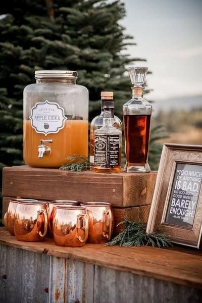 fall wedding drink station ideas october wedding ideas 20 Trending Fall Wedding Reception Ideas for 2019 Wedding Reception Ideas, Fall Wedding Drinks, Fall Wedding Decorations, Fall Wedding Colors, Wedding Favors, Wedding Tips, Yellow Wedding, Food Ideas For Wedding, Drink Station Wedding