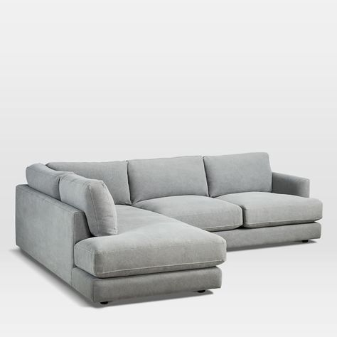 One Arm Sofa Name Beachy Haven 2 Piece Terminal Chaise Sectional Studio Home Right Left Performance Washed Canvas Gray