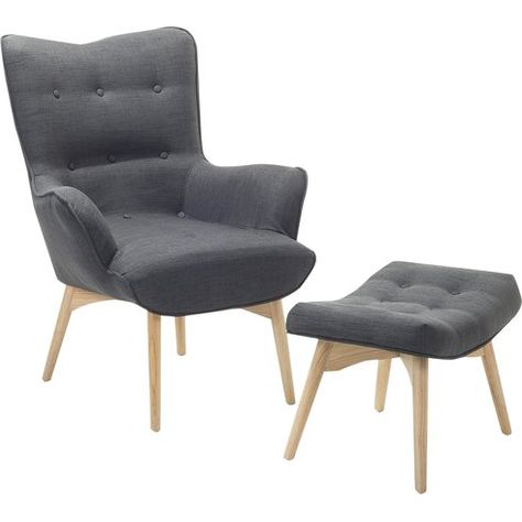 Astounding Corrigan Studio Ledo Wingback Chair And Ottoman Home Gmtry Best Dining Table And Chair Ideas Images Gmtryco