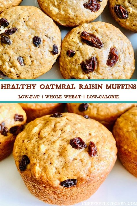 Healthy Oatmeal Raisin Muffins · Coffee Fit Kitchen
