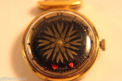 Have similar from 1950's & LOVE it!! Ernest Borel Mystery Dial / Kaleidoscope Cocktail Watch - Black Face