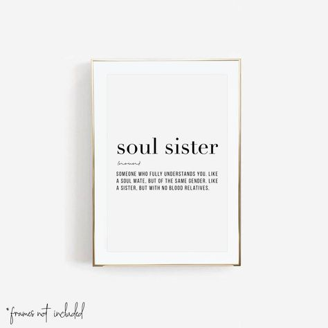 Soul Sister Definition Print