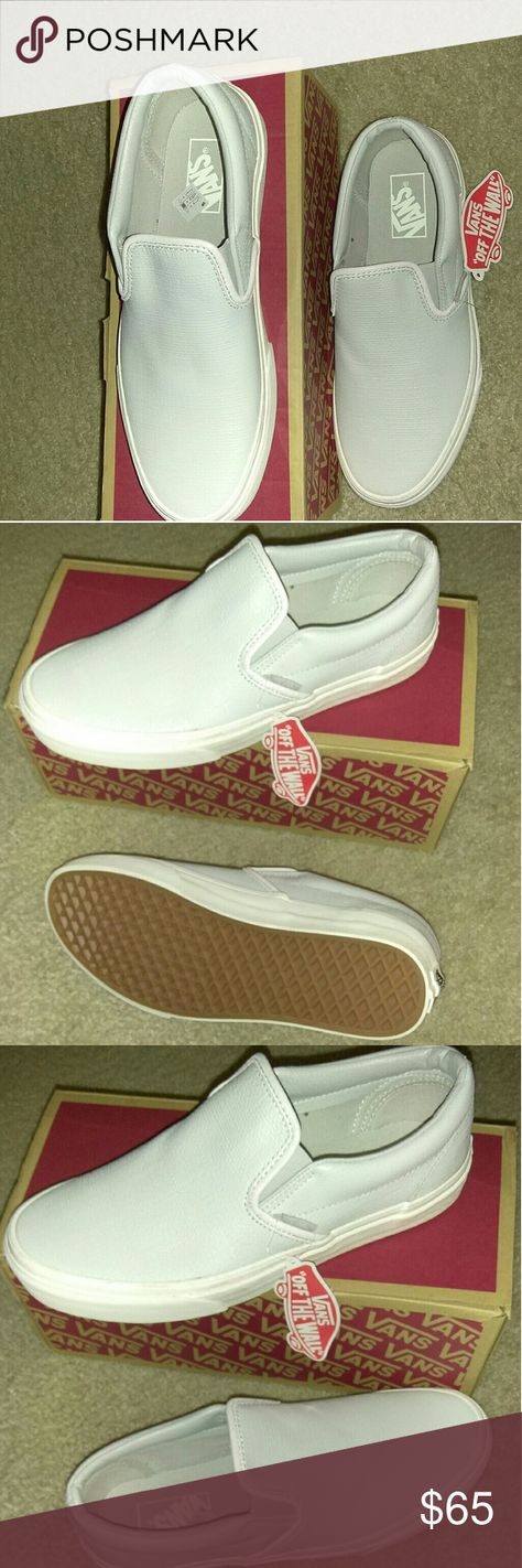4dab8b4926 Vans Slip Ons Classic Slip-On. Embossed Leather. Glacier in color which has  a blue gray look Vans Shoes Loafers   Slip-Ons