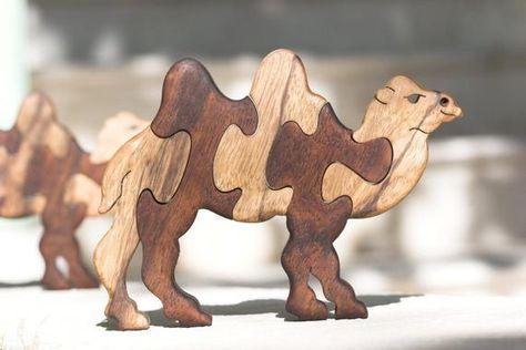 Hand Cut Camel Wooden Jigsaw Puzzles