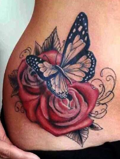 Pin By Maggie On Butterfly Tattoo S Rose And Butterfly Tattoo Tattoos Butterfly Tattoo