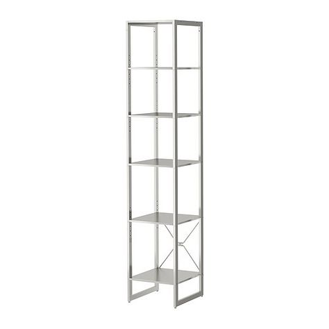 LIMHAMN Shelving unit IKEA Shelf of stainless steel with easy clean, hygienic, durable surface.
