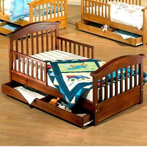 Sorelle Joel Pine Toddler Bed With Drawer Www Hayneedle Com Toddler Beds For Sale Toddler Rooms Toddler Beds