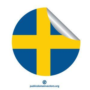 Publicdomainvectors Org Sticker With Flag Of Sweden Flag Vector Flag Stickers