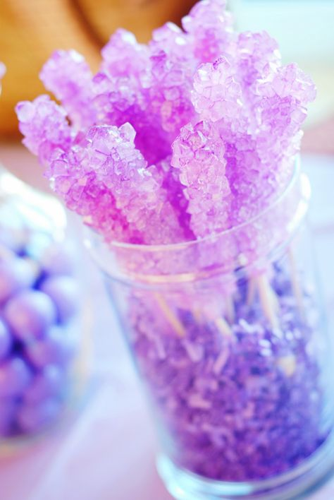 Rock Candy in Purple for Tangled birthday party Princess Sofia Birthday, Sofia The First Birthday Party, 4th Birthday Parties, Tangled Birthday Party, Purple Birthday, Purple Party, Purple Princess Party, Lila Party, Birthday Table