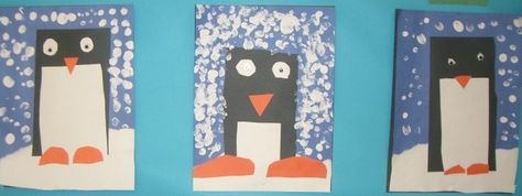 the teacher wife: penguin mini unit {freebie} 2 rectangles, circle in half for feet, triangle geek and circle eyes