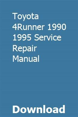 Toyota 4runner service and repair manual with by carlene aggarwal.