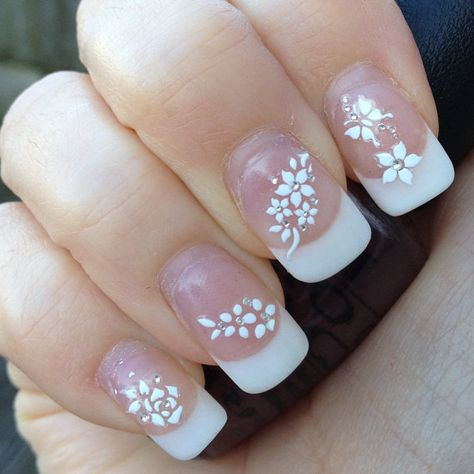 White Nail Art Stickers Nail Decals Wraps Sparkly by Hailthenails