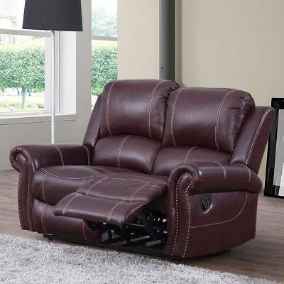 Lorenzo Leather Reclining Loveseat