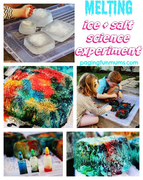 Melting Ice & Salt Science Experiment - a fun & educational activity for kids!