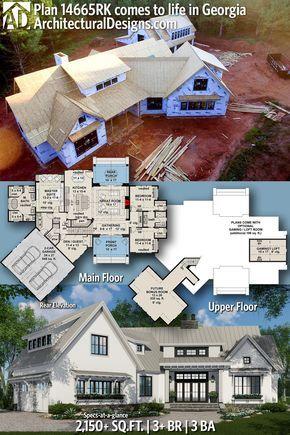 Plan 14665rk Expandable Farmhouse House Plan With Options In 2020 House Plans Farmhouse Farmhouse House Modern Farmhouse Plans