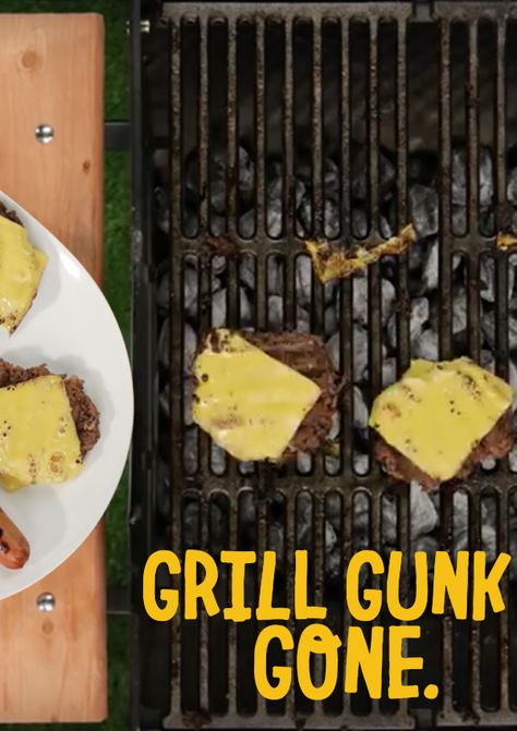 Degrease your grill with less elbow grease. Click to see how Goo Gone Grill & Grate Cleaner eliminates burnt on foods with a spray, brush and wipe.