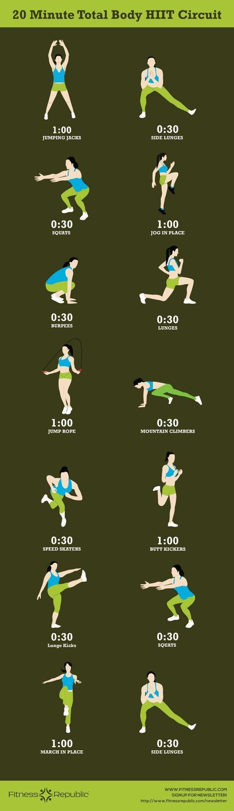 20-Minute Total Body HIIT Circuit find more relevant stuff: victoriajohnson.w