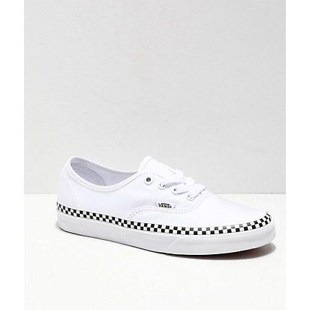 vans all white checkerboard