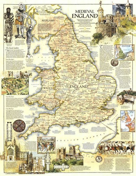 Medieval Map Of England Map of Medieval England | Medieval england, England map, Medieval