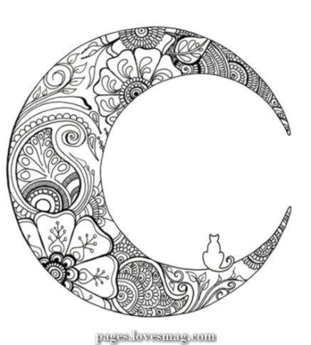 Breathtaking 52 Tremendous Concepts Tattoo Moon Mandala Coloring Mandala Coloring Pages Moon Mandala Mandala Coloring