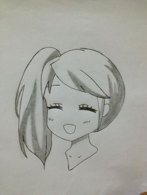 How To Draw A Girl Head Recipe Anime Drawings Sketches Anime Drawings Easy Drawings