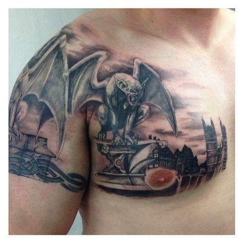 #gargoyle #blackandgrey #tattoo #ink #tattoostudio - - - -  #gargouille #blackandgrey #tatouage #encre #tattoostudio – – –  - #beautifultattoos #blackandgrey #gargoyle #Gargoyletattoo #Ink #tattoo #tattoostudio