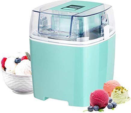 Costway Ice Cream Maker 1 6 Quart Automatic Macarons Color Ice Cream Machine Custard Frozen Yogurt Sorbet Gel Best Yogurt Maker Yogurt Maker Make Greek Yogurt