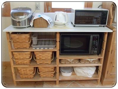 収納たっぷりの手作りレンジラック レンジ台 Diy キッチン収納術 インテリア 収納