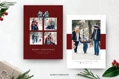 Christmas Card Template CC092 (934244) | Card and Invites | Design Bundles