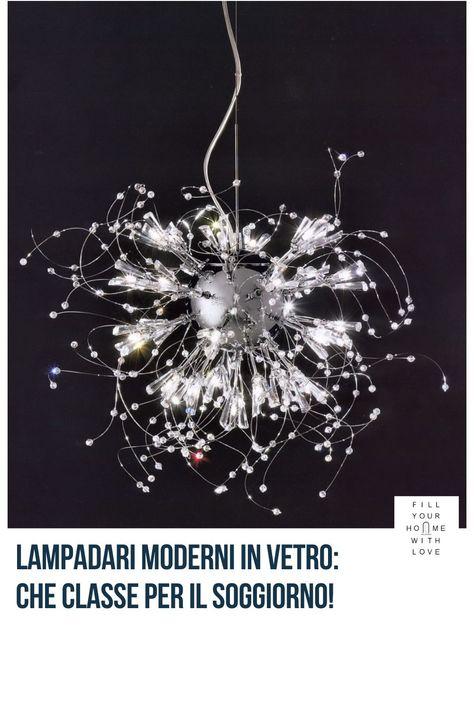 Lampadari moderni: in vetro per il soggiorno | Fillyourhomewithlove