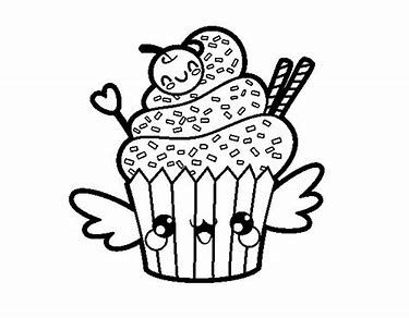 Cute Kawaii Cupcake Coloring Pages Bing Images Cupcake Coloring Pages Coloring Pages Valentines Day Coloring Page