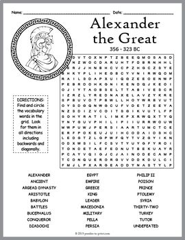Alexander The Great Word Search Fun With Images Alexander The
