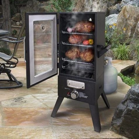 Electric Smoker w/ 30 Inch Window Outdoor Food Meat Barbecue Cooking Smokehouse